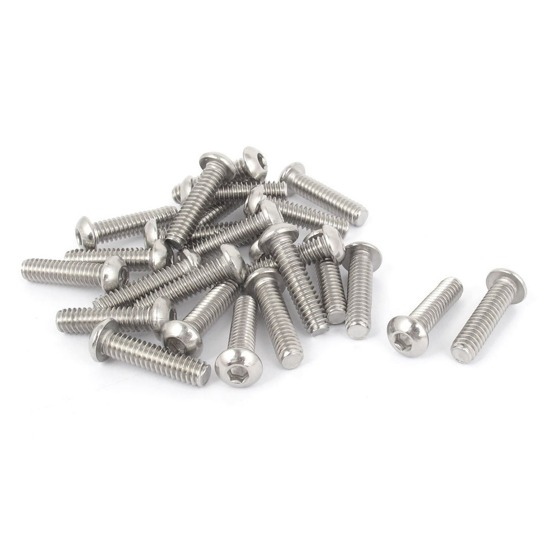 1/4 Inch-20x1 Inch Hex Socket Button Head Bolts Screws 25 Pcs ksol m6 x 70mm threaded 1mm pitch hex socket head cap screws bolts 5 pcs