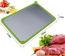 Defrosting Plate Thawed Evenly Automatic Thawing Plate Cutting Board Fast F-rozen Food Meat Fish Food  Defrosting Tray
