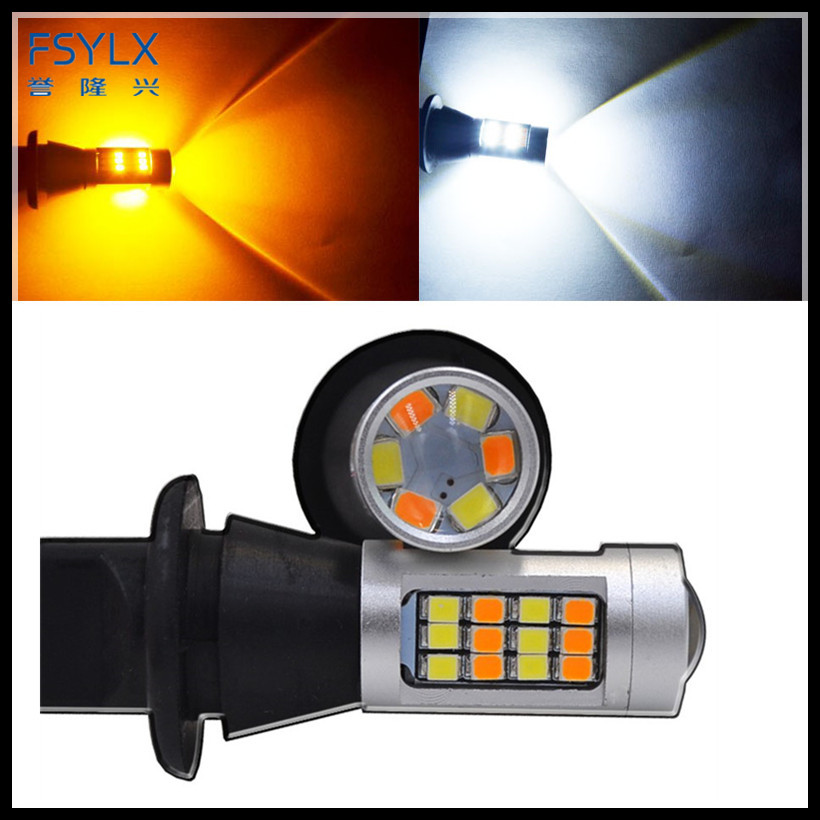 FSYLX Error Free Canbus T20 7440 1156 3156 42SMD 2835 WY21W 7440 LED Bulb for Toyota Prius Car Reverse Turning Signal Lights DRL 2pcs canbus error free 55 smd 3030 7440 w21w led backup reverse light bulbs for 2010 2014 volkswagen mk6 golf or gti 6000k whit