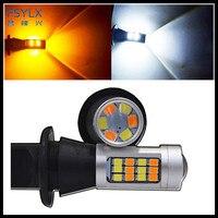 Fsylx ошибок Canbus T20 7440 1156 3156 42SMD 2835 WY21W 7440 светодиодные лампы для автомобиля Toyota Prius обратного поворота сигнальные огни DRL