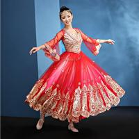 Women Performance belly dance clothes India belly dance costume girls red dance clothing Adult Fashion Indian Clothes