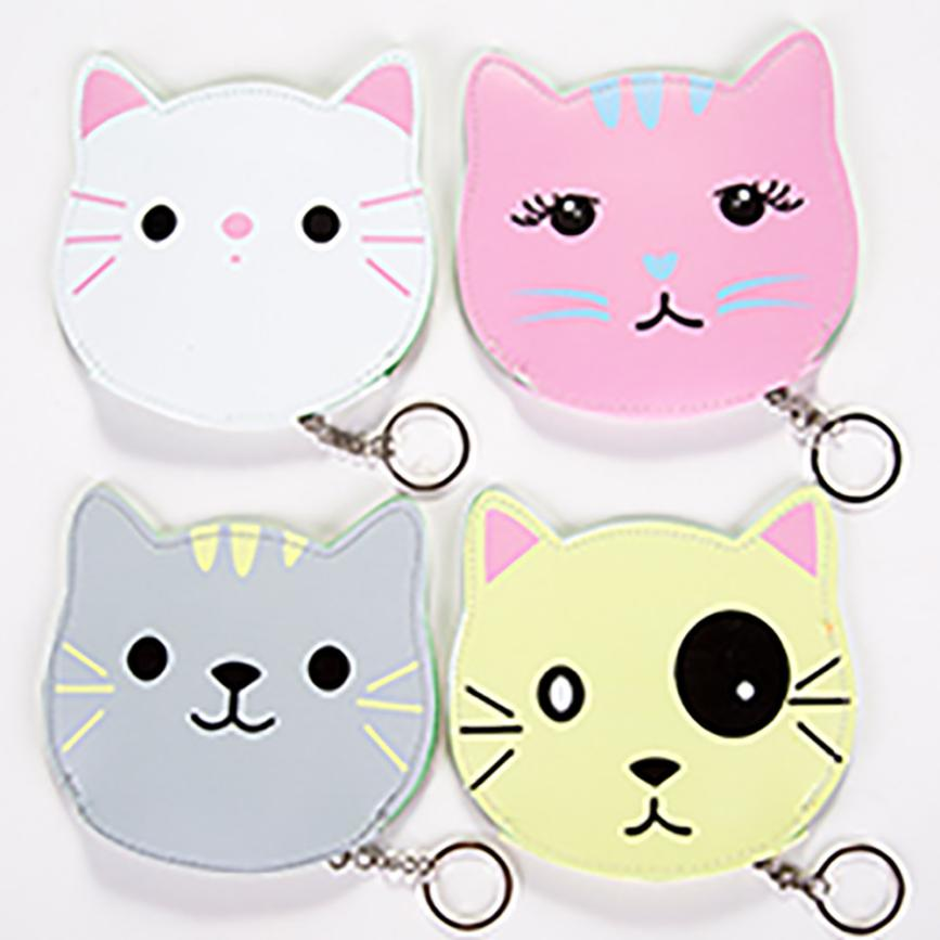 Cat Purse Women Girls Cute Fashion Snacks Coin Purse Wallet Bag Change Pouch Key Holder Pokemon 3D Animal Woman Bag A0706