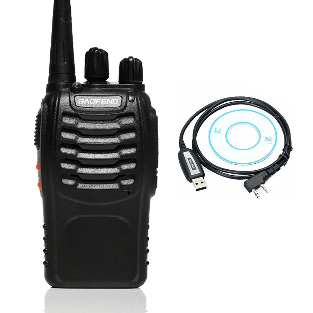 Portable Baofeng bf-888s + USB Programming Two Way Radio Walkie Talkie For UHF Band Ham CB Radio Station Original 1PCS
