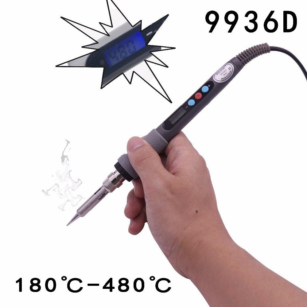 PJLSW 9936d 90 W temperatura ajustable soldadura eléctrica Digital de la UE plug sustituir HAKKO 936 Estación de soldadura