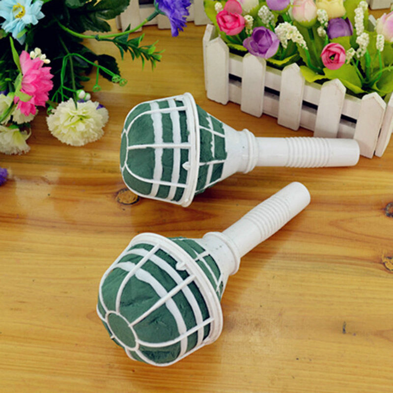 Bouquet Holder Handle Wet Fresh Dry Artificial Flowers Floral For ...