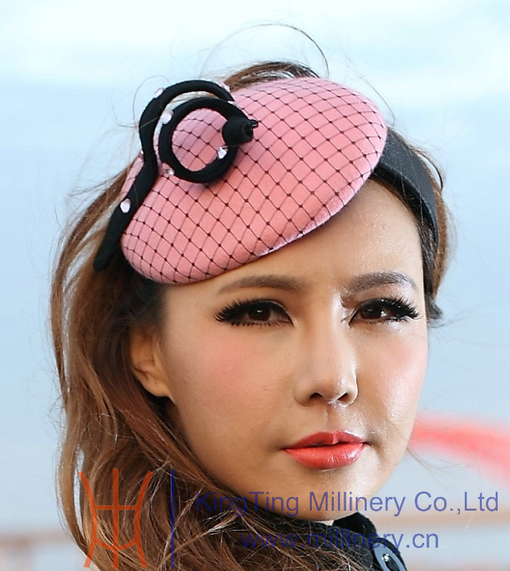 Free Shipping Cute Girl Pink Hair Accessory Hair Fascinator Hat Beautiful Princess Headband Hair Accessories Pink Hairband new original airtac filter valve oil water separator bfc2000
