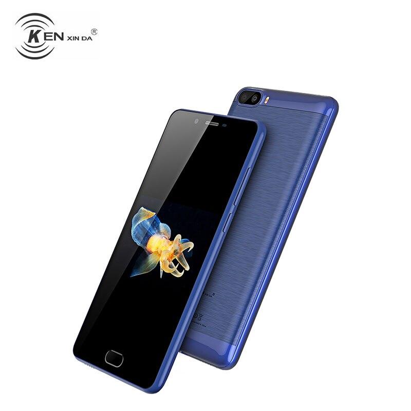 KenXinda S9 Unlock 4G LTE Mobile Phone Android 7.0 Nougat MT6737 Quad Core 2+16 2 Back Cameras Smartphone 5.5 Inch Fingerprint