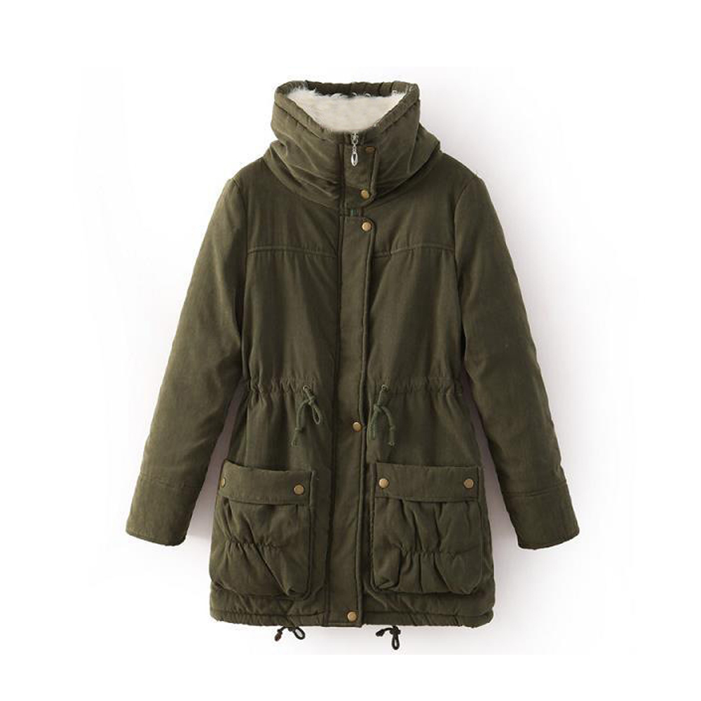 Jocoo Jolee Winter Jacket Women Thick Warm Long Parka Mujer Cotton Padded Coat Long Paragraph Plus Size 3XL Slim Jacket Female in Parkas from Women 39 s Clothing