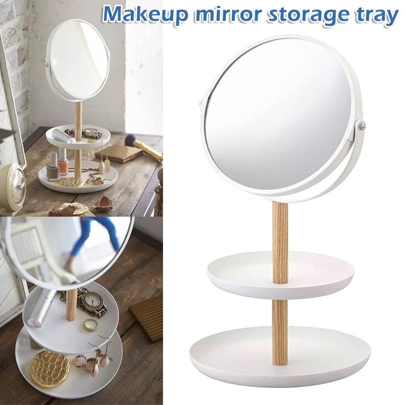 Schminkspiegel Vergrößerungs Spiegel Schmuck Kleinigkeiten Ablage Desktop Lagerung Make-up-tool Hjl2019 Neueste Technik