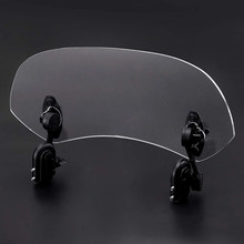 For Motorcycle Adjustable Clip On Windshield Extension Spoiler Wind Deflector(China)