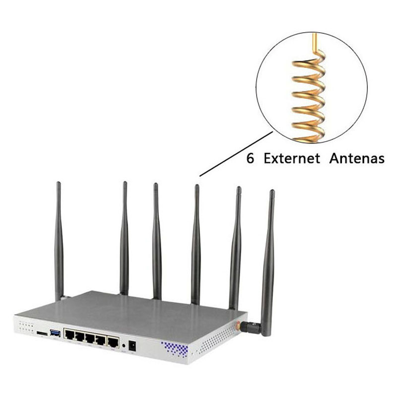 Image 4 - Modem 4g lte wifi router with sim card slot 1000Mbps lan port MT7621 camera surveillance enterprise router 4g 3g vpn pptp l2tp-in Wireless Routers from Computer & Office
