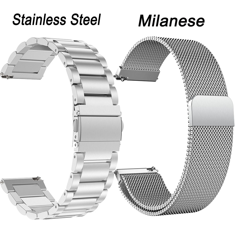 For Samsung Gear S3 Galaxy Watch 46mm Stainless Steel Band Strap Milanese Loop Bracelet 22mm Watchband For HUAWEI GT Amazfit 2S
