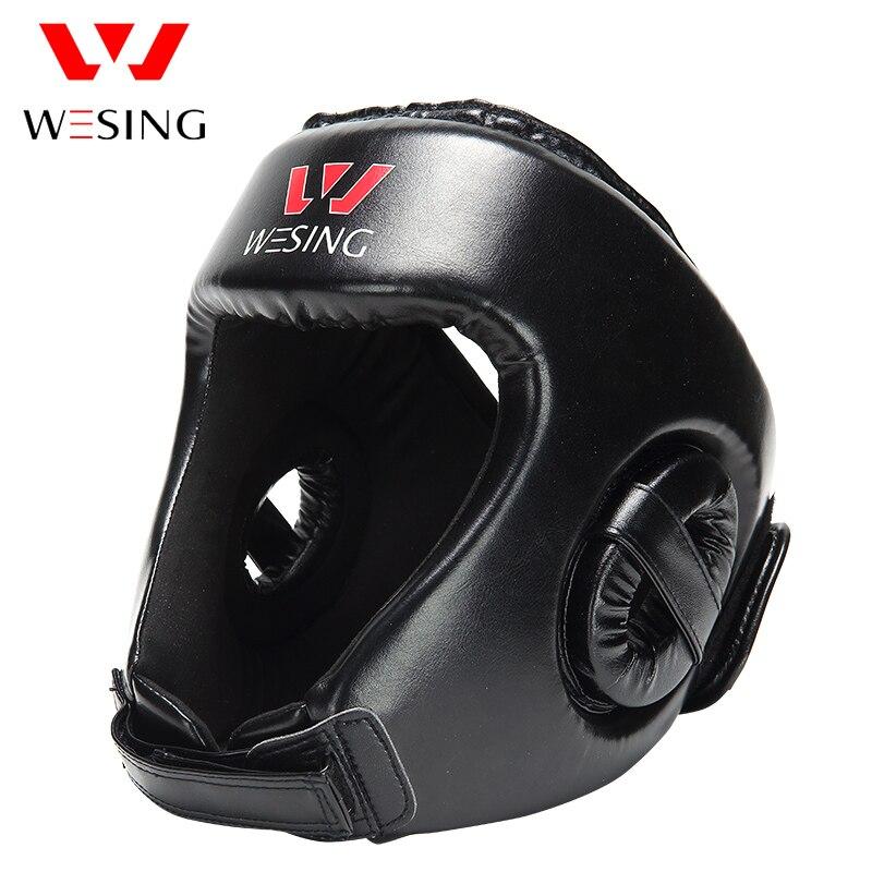 Prix pour Wesing Boxe Head Garde MMA Muay thai Casque protecteur kickboxing Head Gear pu en cuir