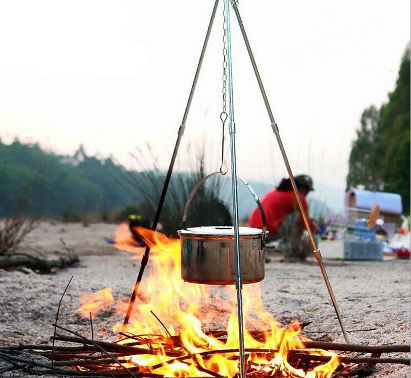 Kültéri függesztett pot tartó, piknikes piknikes hordozható - Kemping és túrázás - Fénykép 1