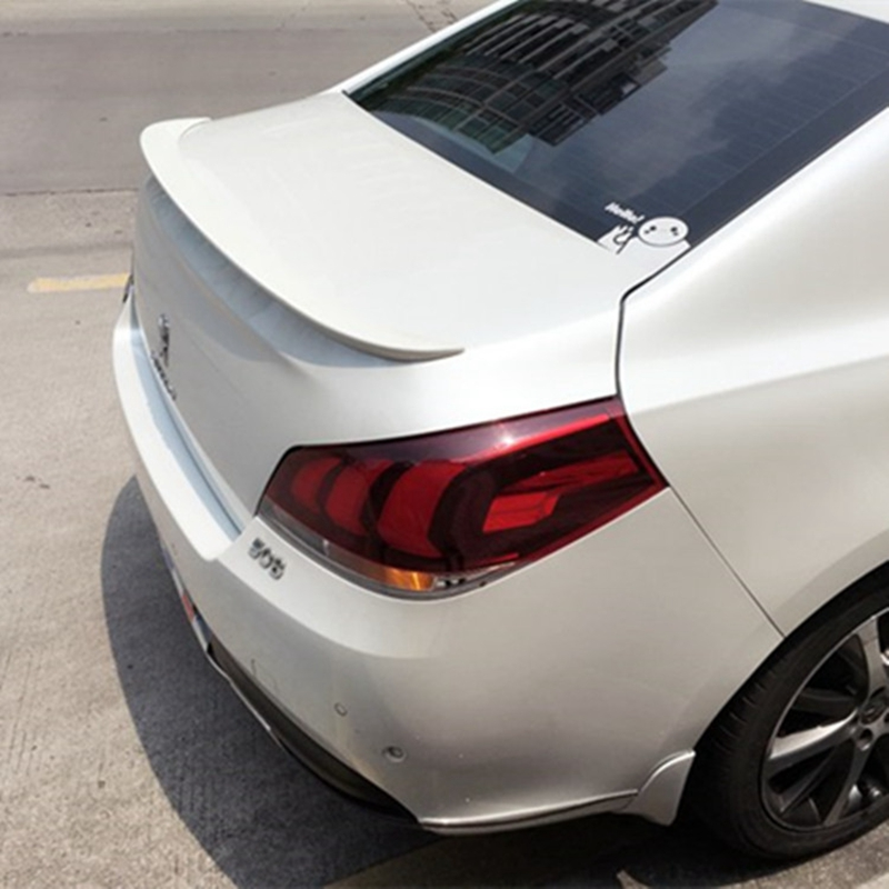 For Peugeo 508 Spoiler 2011 2012 2013 2014 2015 ABS Plastic Material Unpainted Primer Tail Trunk Wing Rear Spoiler Car Styling