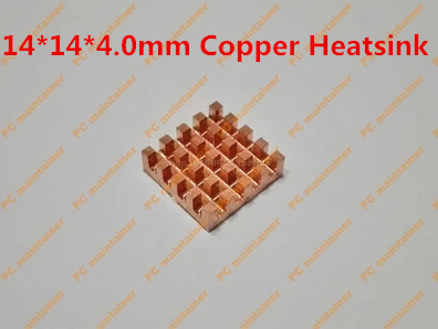 5PCS/LOT Pure Copper Broken Groove Memory MOS Radiator fin Raspberry Pi Chip Notebook Radiator 14*14*4.0mm Copper Heatsink 75 29 3 15 2mm pure copper radiator copper cooling fins copper fin can be diy longer heat sink radiactor fin coliing fin