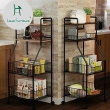 Луи Мода Кухня острова троллейсо пол Многоэтажный хранения простой современный удобный ремень ролик