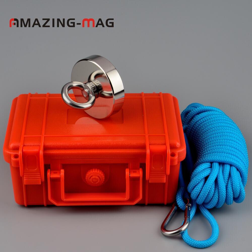 200 KG Super Puissant Ronde anneau magnétique de néodyme Aimants De Pêche de Récupération avec Corde Boîte Trésor Chasseur de Maintien Magnétique Imanes