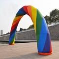 32ft = 10 м надувная Радуга арка для рекламы с воздуходувкой вечерние принадлежности/события украшения 220 В/110 В
