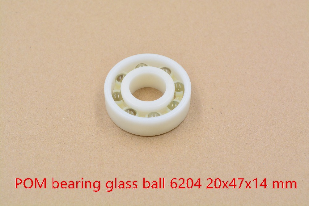 POM plastic 20mmx47mmx14mm nylon bearing 20mm bearing glass ball water proof acid and alkali resistant single seal 6204 1pcs