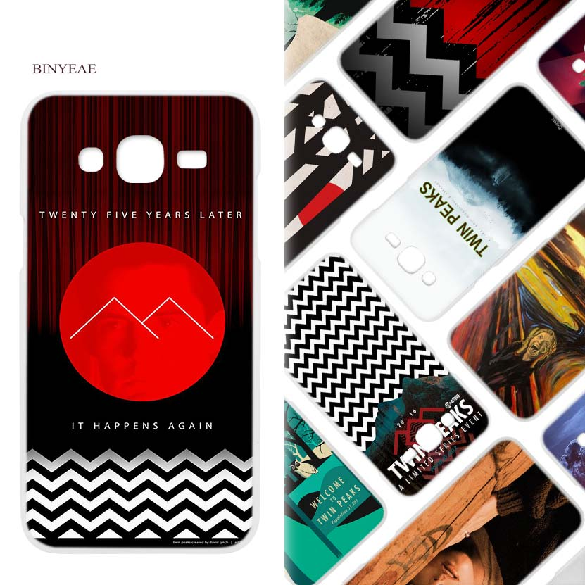 BINYEAE Welcome Twin Peaks Hard White Case Cover Shell for Samsung J2 J3 J5 J7 2016 2017 Prime