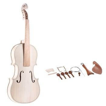DIY 4 4 pełny wymiar naturalny zestaw skrzypce z litego drewna skrzypce z EQ wierzchołek świerka klon powrót szyi podstrunnica stopu aluminium Tailpiece tanie i dobre opinie ammoon CN (pochodzenie) zrobione ze świerku Z klonu Maple DIY 4 4 Violin Fiddle Kit doesn t include the violin bow