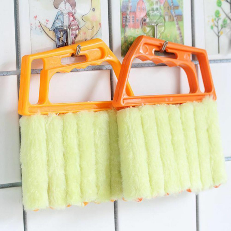 Image 2 - 1pc Microfiber Window Cleaning Brush Venetian Blind Brushes Air Conditioner Duster Cleaner  Household Cleaning Tools-in Cleaning Brushes from Home & Garden