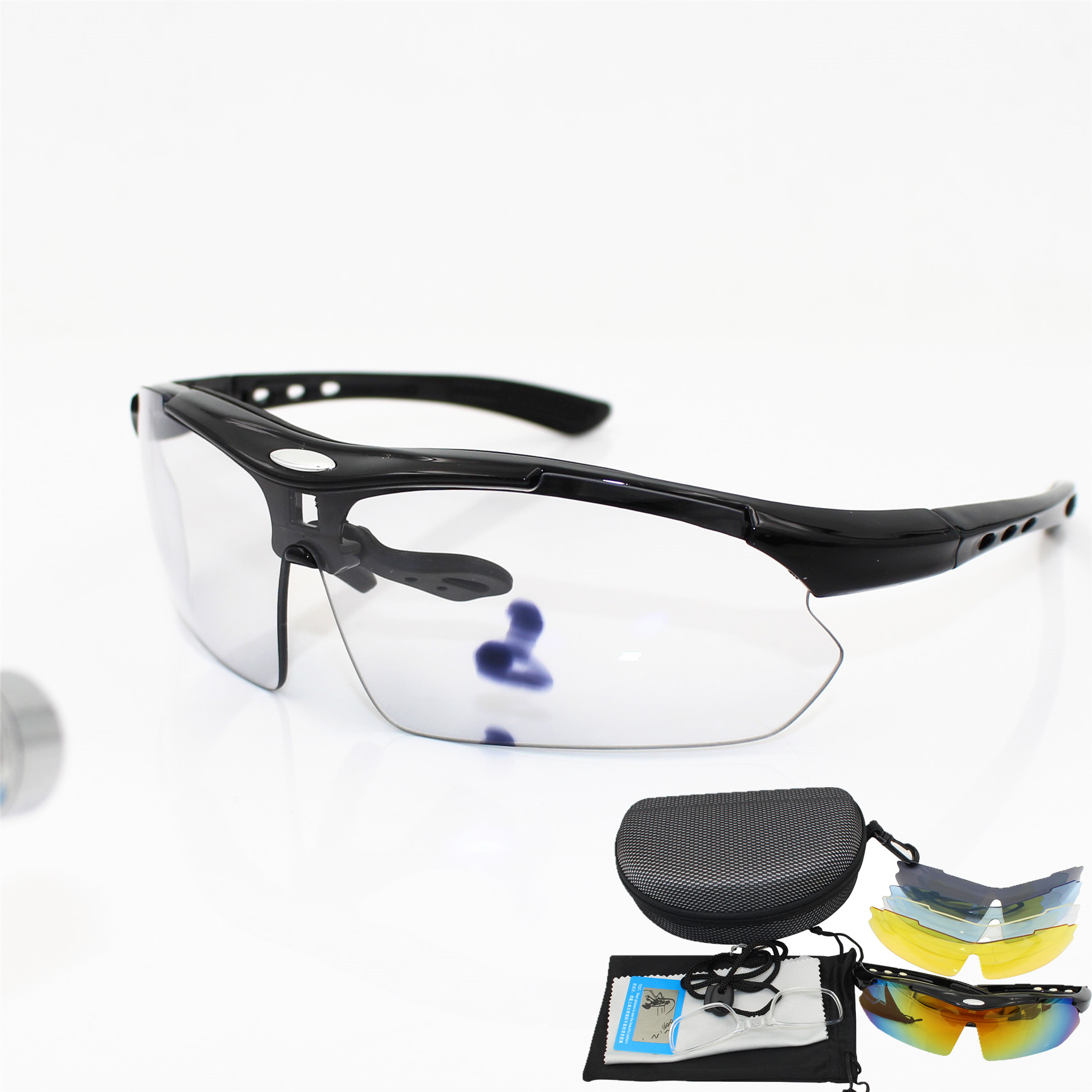 Polarized Cycling Glasses 5Lens  Outdoor Sport Sunglasses Photochromic Goggles
