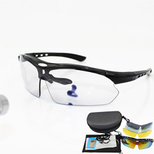 Photochromic Cycling Glasses Polarized sunglasses Bike Goggles Outdoor Sports Bicycle UV400 With 5 Lens Running glasses