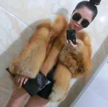 Top quality whole skin genuine red fox fur coat for women 2018 new arrival female winter real fur coats jackets