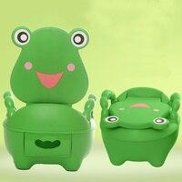 Portable Cartoon Baby Toilet Girls Boy Potty Seat Folding Chair Cute Frog Drawer Training Toilet YH 17