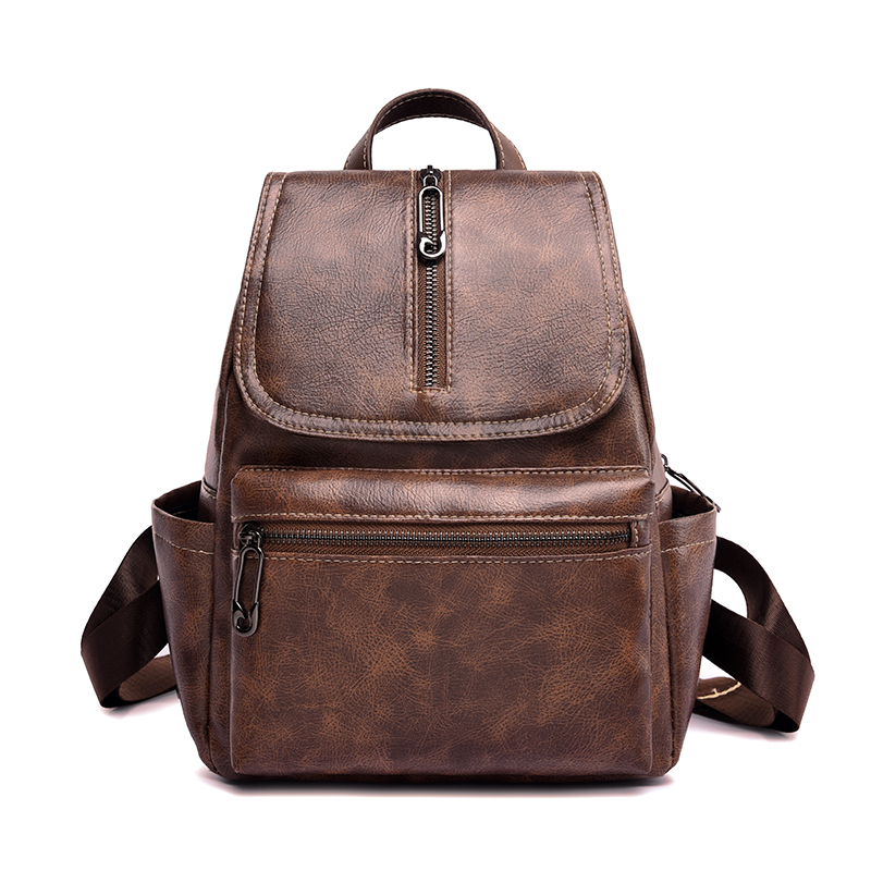 2019 Fashion Women Backpacks Retro PU Leather Backpack Shoulder Bags for Female