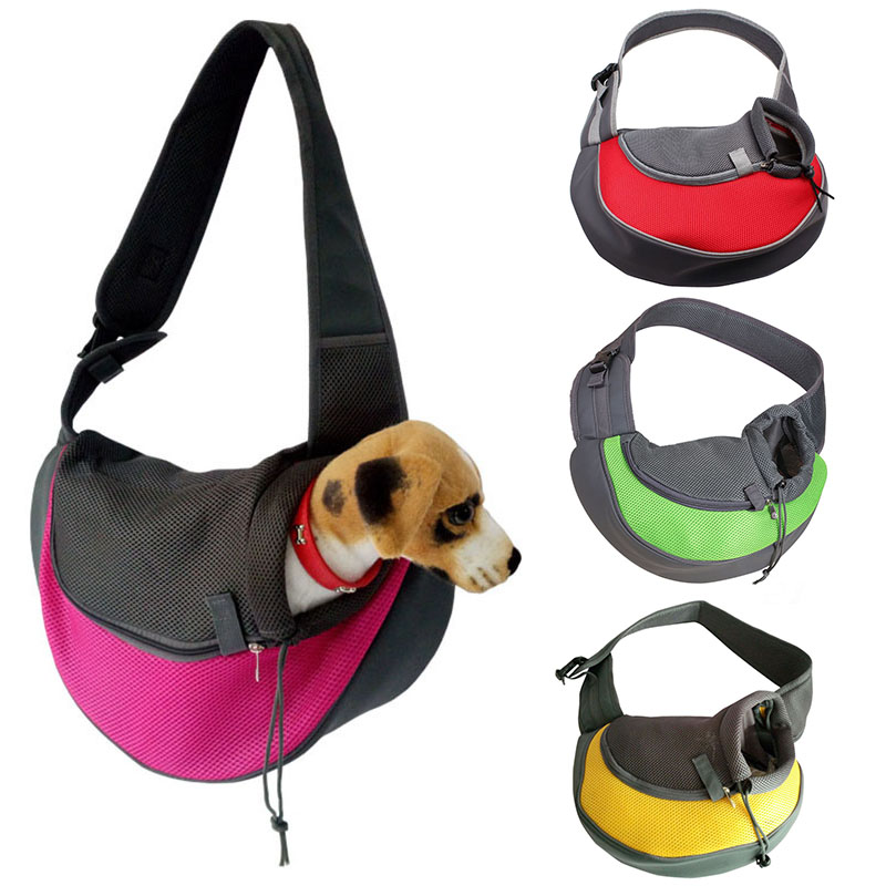 Luck Dawn Portable Pet Sling Carrier Bag Breathable Mesh Single-Shoulder Pet Travel Pouch for Small Dog Cat