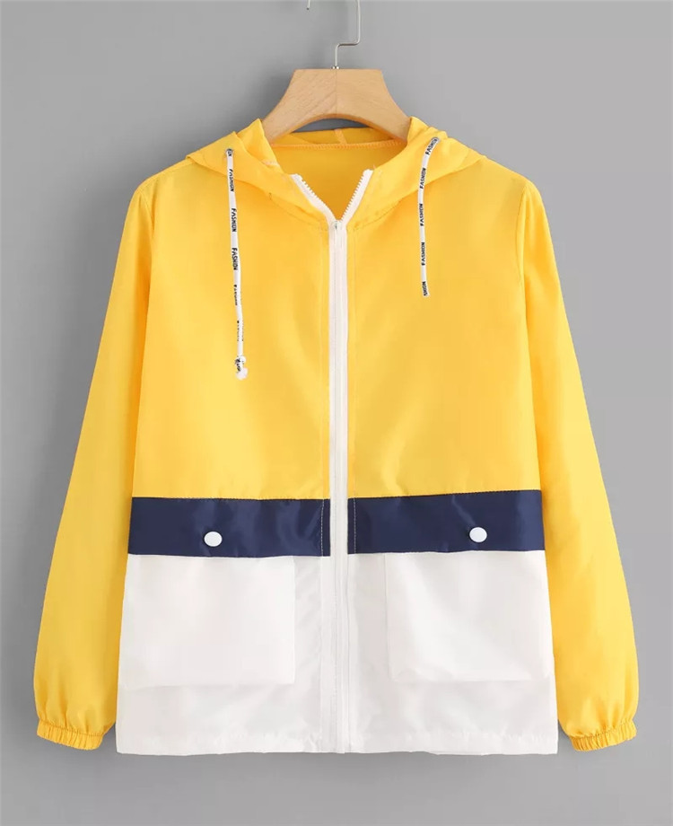 Autumn Fashion Windbreaker   Jacket   Women Zipper Pockets Coats Casual Long Sleeves   Basic     Jackets