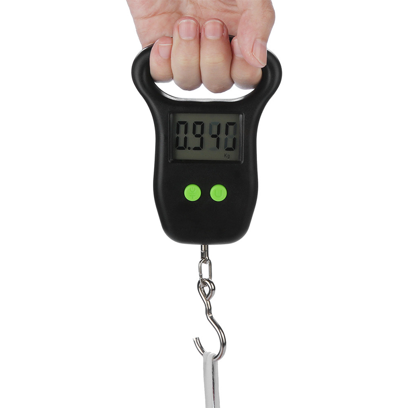 50kg Portable Mini Digital Scale Fishing Luggage Travel Weighting Steelyard Hanging Electronic Hook Scale Kitchen Weight Tool