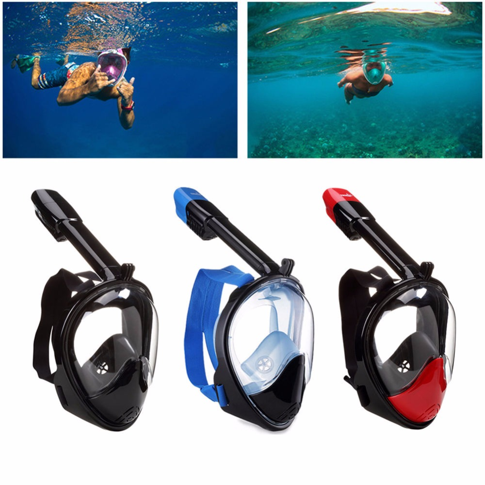 High Quality Anti fog Swimming Full Face Mask Surface Diving Snorkel Scuba S M L XL