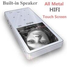 Сенсорный экран HiFi MP3-плееры Встроенный динамик 8 ГБ Металл высокого качество звука начального уровня без потерь Музыкальный плеер Поддержка TF карты FM