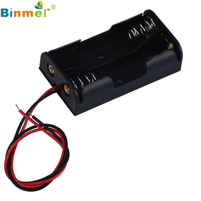 HL 2018 Hot New Box Holder For 2 x AA Black With Wire Leads Plastic ...