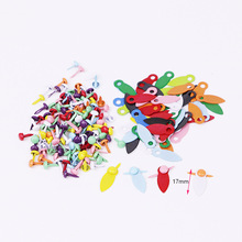300pcs/lot colorful scrapbooking brads with photo frame rotate lock metal embelliments