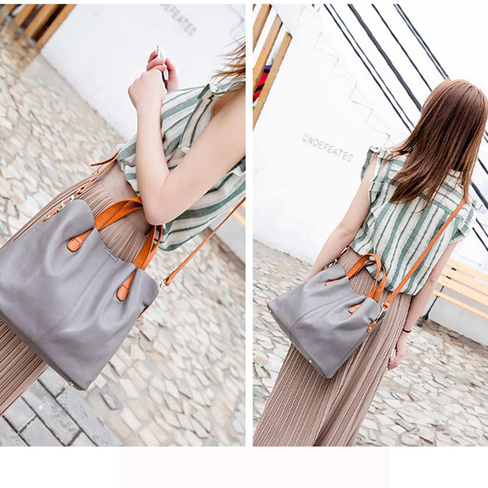 Zency Hot Sale Handtas 100% echt leder Lady Casual Tote Dames - Handtassen - Foto 5
