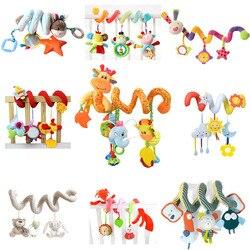 21 стилей Животные спиральные погремушки прогулочная коляска детские игрушки для кроватки мягкие игрушки коляски плюшевые детские развива...