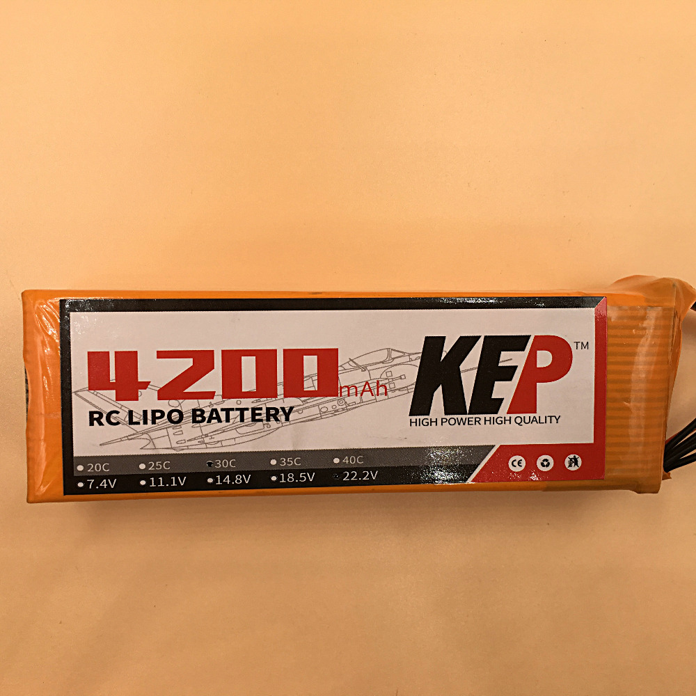 KEP RC Lipo Battery 22.2v 4200mAh 35C 6S Aircraft Helicopter/Drones Li-Polymer Batteria stand wear and tear manufacture factory 3pcs battery and european regulation charger with 1 cable 3 line for mjx b3 helicopter 7 4v 1800mah 25c aircraft parts