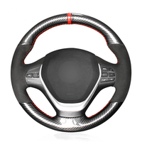 OLPAY DIY Black Suede Car Steering Wheel Cover for BMW F20 2012 2018 F45 2014 2018 F30 F31 F34 Soft Comfortable Durable