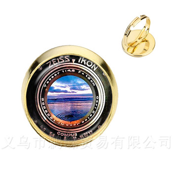 Dslr Lenses Art Picture Rings Keep That Moment Forever Camera Lens Golden Plated 2 Color Adjustable Rings image