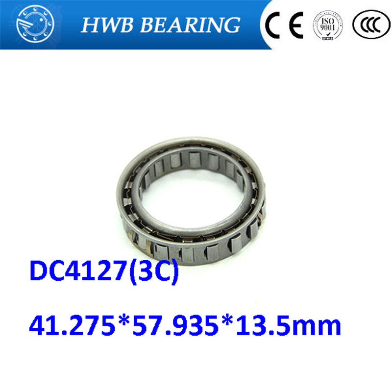 Free shipping DC4127(3C) sprag free wheels One way clutch needle roller bearing Forward Sprag Dual Cage 41.275*57.935*13.5mm free shipping big roller reinforced one way bearing starter spraq clutch for kawasaki prairie kvf400 1997 2002
