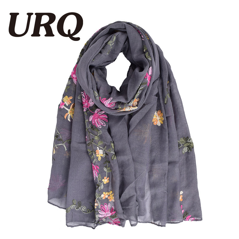 Embroidered Scarf For Women Chinese Style Ethnic Thin But Warm Winter Scarves Autumn Luxury 884