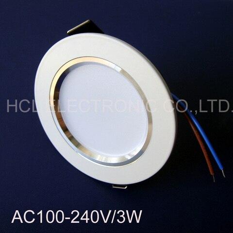 de alta qualidade levou 3w 3w led downlight lampada do teto de alta potencia pcs