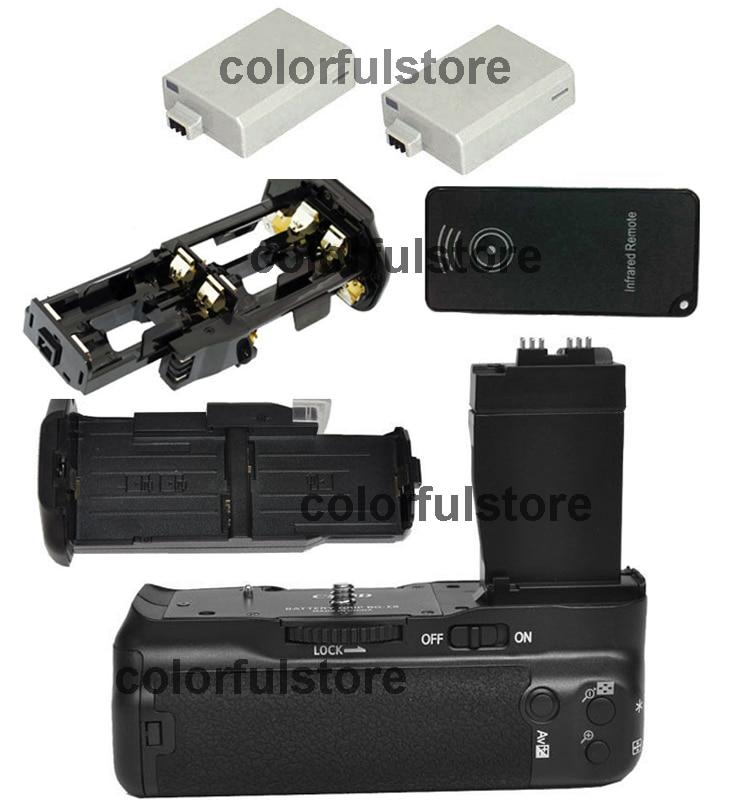 Free Ship by DHL Vertical Battery Hand Grip For Canon EOS 550D 600D 650D 700D Rebel T2i T3i T4i T5i Camera +IR Remote +2 x LP-E8 стоимость