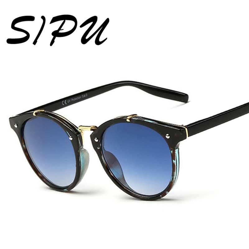2017 Classic Women Round font b Sunglasses b font Gradient Sun glasses Female Famous Brand Designer