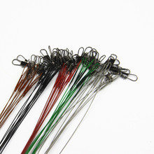 20Pcs/lot 15CM, 23CM, 30CM Fishing Line Steel Wire Leader With Swivel Fishing Accessory 5 Colors Olta Leadcore Leash FL84